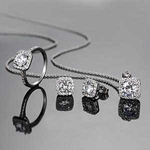 jewelry set,women set,necklace earrings rings jewelry,nickel free hypoallergenic jewelry set