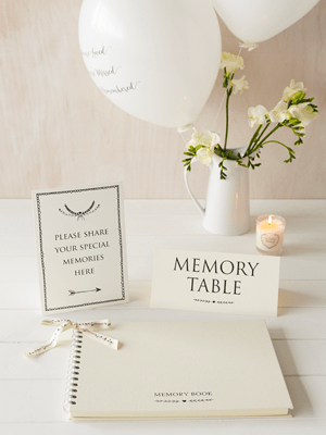 condolence book, memory book, book of condeolence, funeral guest book, angel & dove