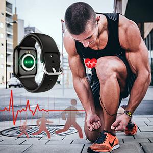 Smart Watch for Men Heart Rate Monitor Fiteness Tracker Smart Watch