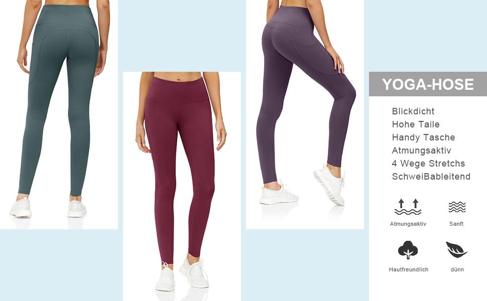 Damen Sport Fitness Yogahose
