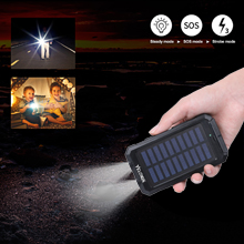 Solar power bank uses the intelligent protectin via IC technology.