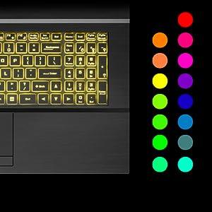 Customizable Single Color Illuminated Keyboard
