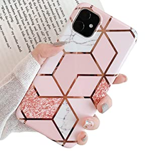 diamonds glitter pink bling iPhone 11 cover case back protection