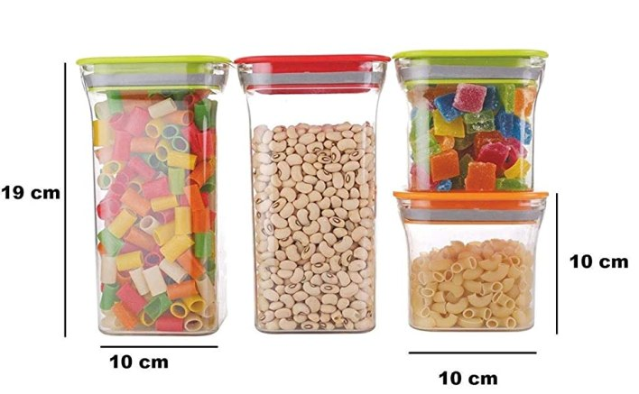 Stackable, Vibrant Colors, with 1100- 600 ml option
