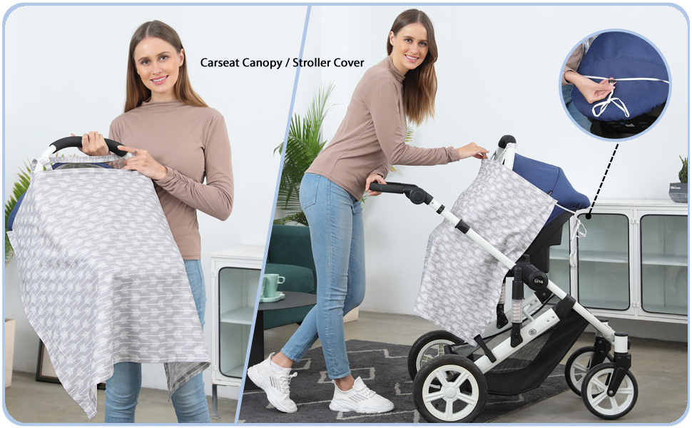 also can use a carseat covers for babies carseat canopy