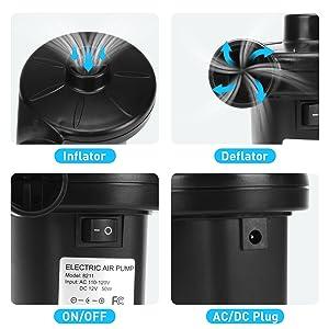 air pump electric pump air mattress pump air bed pump air pump for inflatables