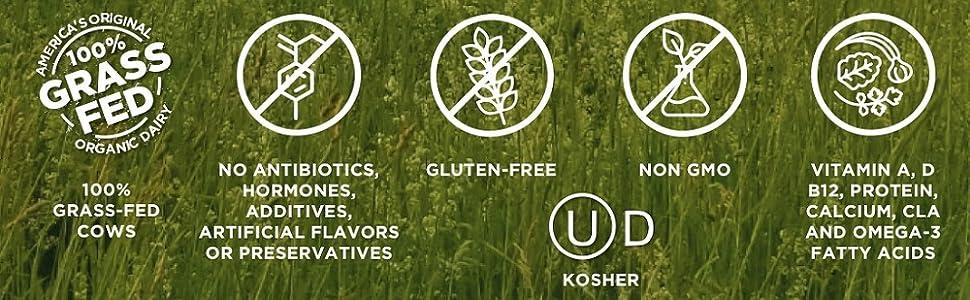 Organic Milk, Grass Fed, organic grass and milk, gluten-free, grass