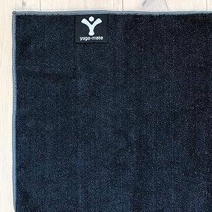 Black Yoga Towel Yoga Mate Non slip No slide Absorbent