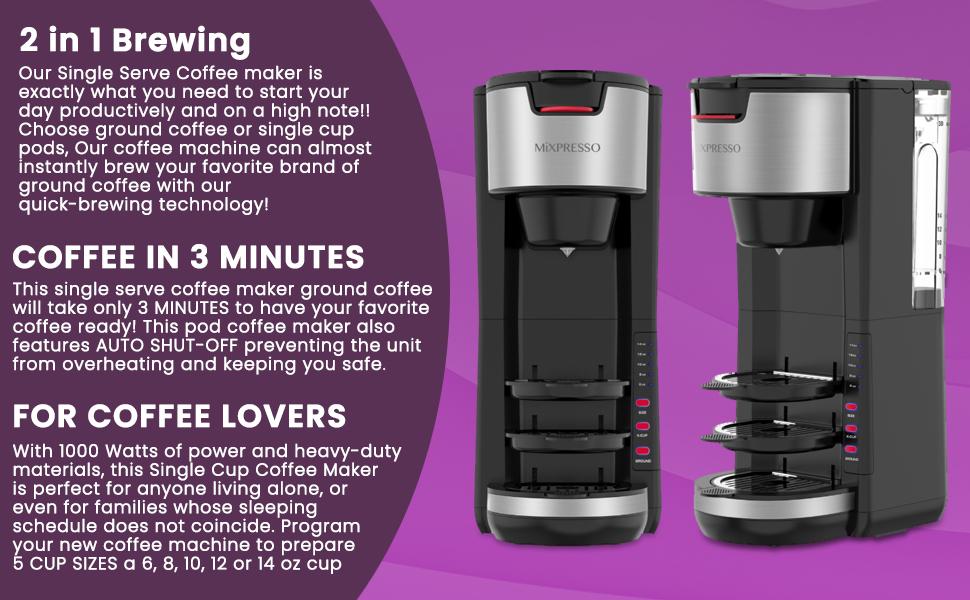 brewing coffee machine single serve coffee maker
