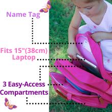 easy access compartment conformable book bag rucksack for kids girls school preschool kindergarten