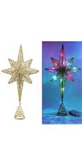 Lighted Christmas Tree Topper, Bethlehem Star