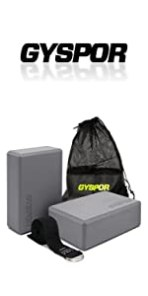 yoga blocks 2 pack with strap gray