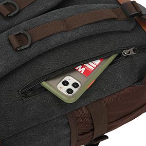 Back anti-theft zipper pocket display