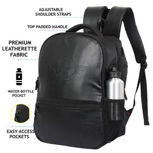 Polestar leather vintage synthetic leather men casual laptop backpack rucksacks schoolbag gifts