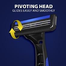LetsShave Dorco Pace 2 disposable razor men pivot head