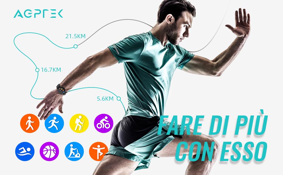 Smartwatch Uomo Fitness