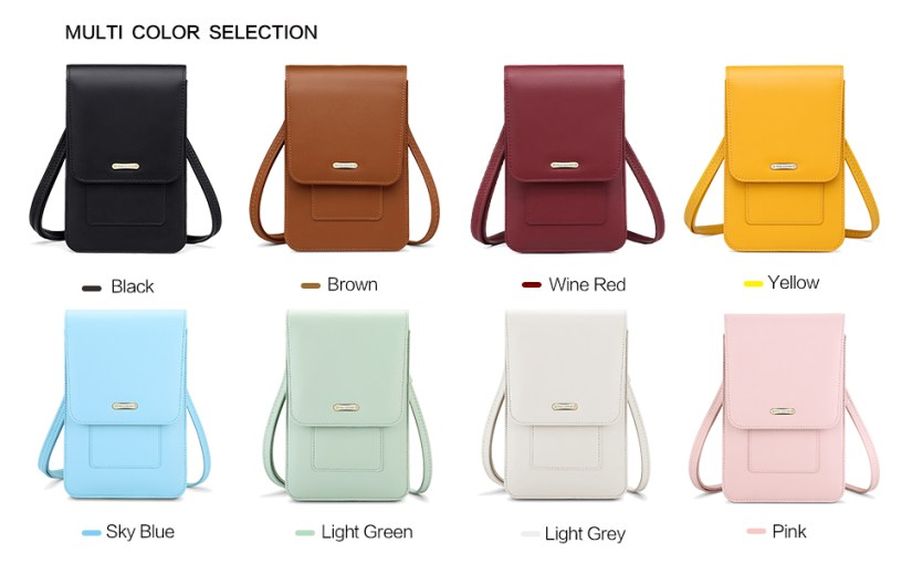 multiple color choice for phone bags