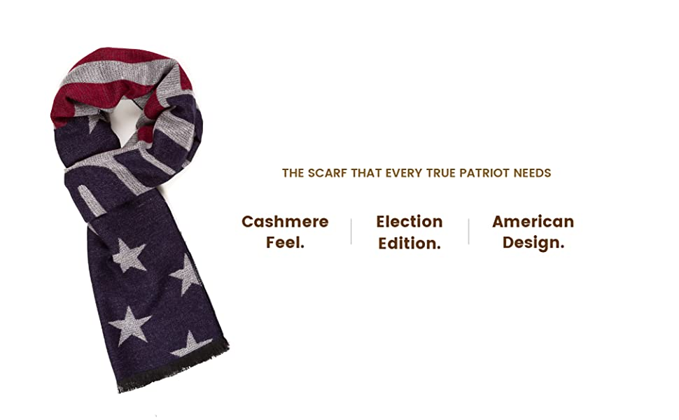 Scarf for Women and Men Presidential Election Trump 2020 MAGA American Flag USA …