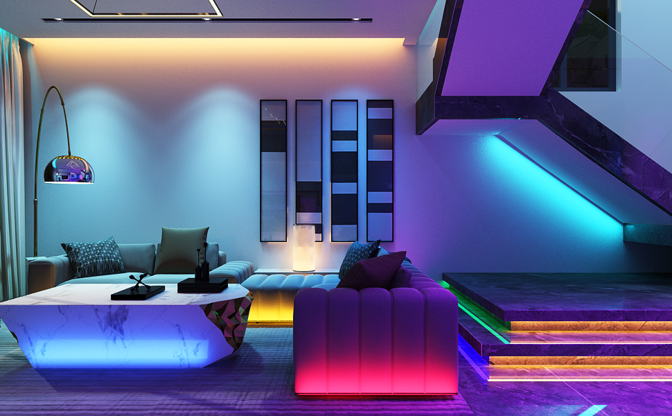 led light strips for living room