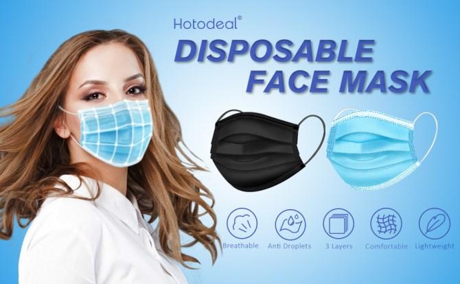 Disposable Face Masks black blue