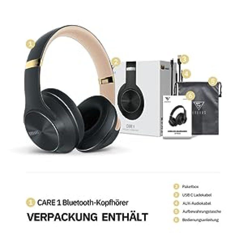 faltbare drahtlose kopfhörer over ear drehbare ohrenschützer bluetooth 5.0 kompatibel iphone xr