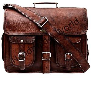 rustic vintage look briefcase bag