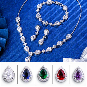 Brirthstones Necklaces Bracelets Earrings Sets