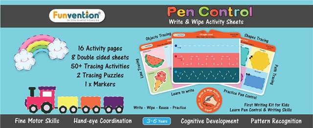 Pen Control activity,Write & wipe activity,preschool activity,3 to 6 years kids,writing practice