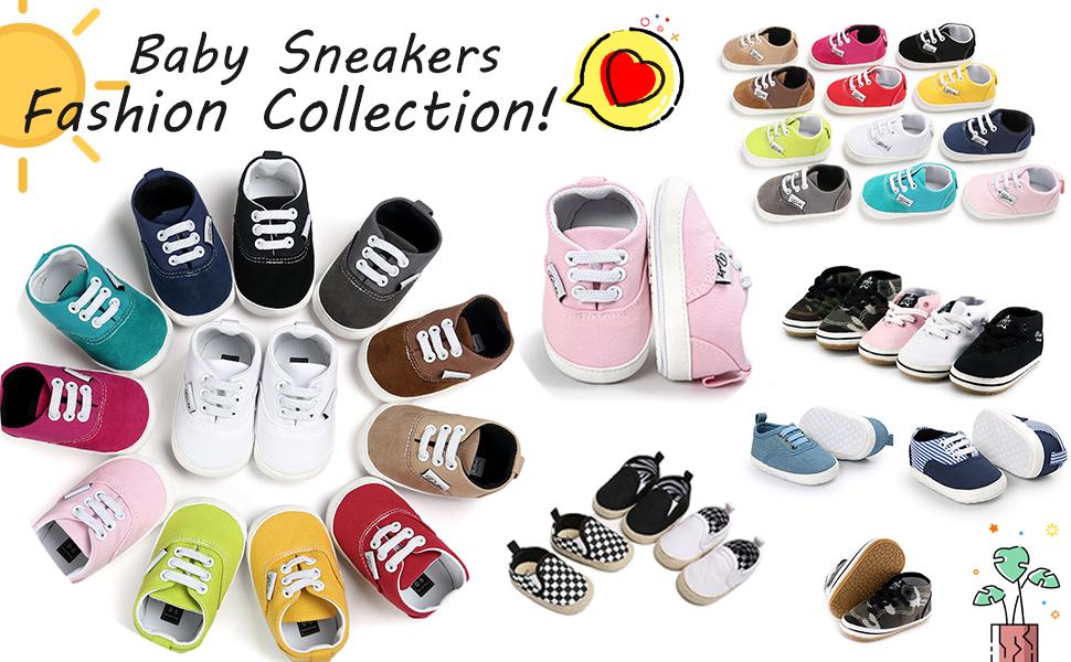 RVROVIC Baby Canvas Sneakers
