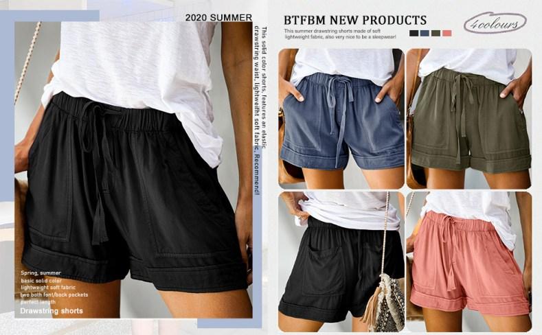 beach women shorts casual short pants woman pocket shorts womens shorts fashion loose shorts womens