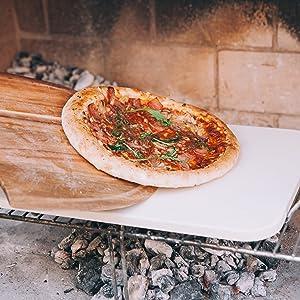 Charcoal barbacoa horno suministros para hornear tabla de cortar cortador de pizza rebanado cuchillo