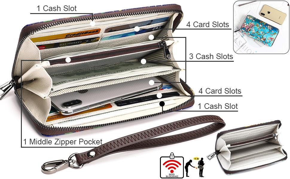 Aphison womens wallet wristlet