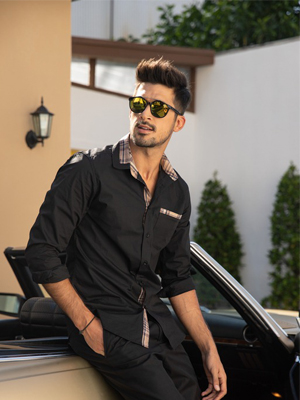 Men's Casual Cotton Button Down Plaid Collar Shirt Long Sleeve Slim Fit Dress Shirt