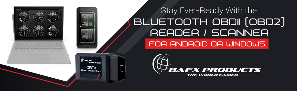 BAFX Products Bluetooth OBDII (OBD2) Reader / Scanner for Android or Windows product plugged in car