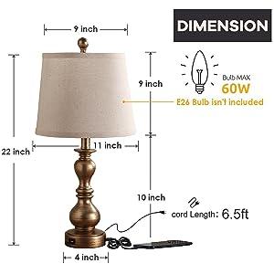 yatak odası için komidin lambası