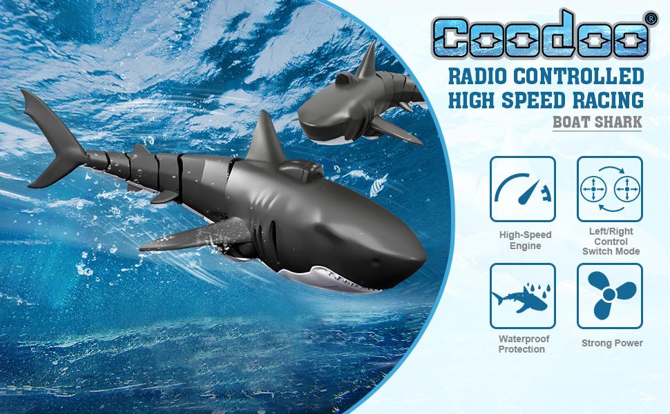 rc shark toys rc boats