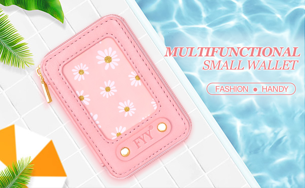 Fashion Card Holder for Back of Phone with Zipper Closure, Phone Wallet Stick On