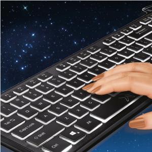 Fingers typing on FINGERS Magnifico MoonLit Keyboard Keys