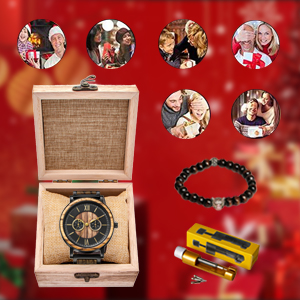 Wristwatches for Men Family Friends Customized Gift Mens Wooden Watches  Engraved Watch for Son