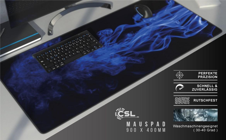 CSL Mauspad XL Mousepad Motiv Tischunterlage Large Präzision für Roccat Razer Logitech Maus Tastatur