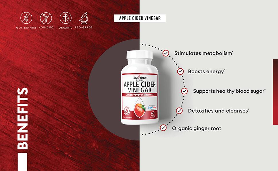 benefits apple cider vinegar boosts energy stimulates metabolism