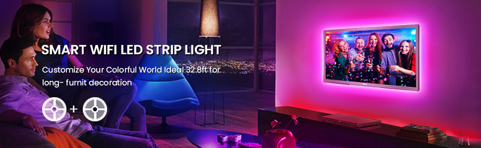 SMART Wi-Fi LED Strip Lights