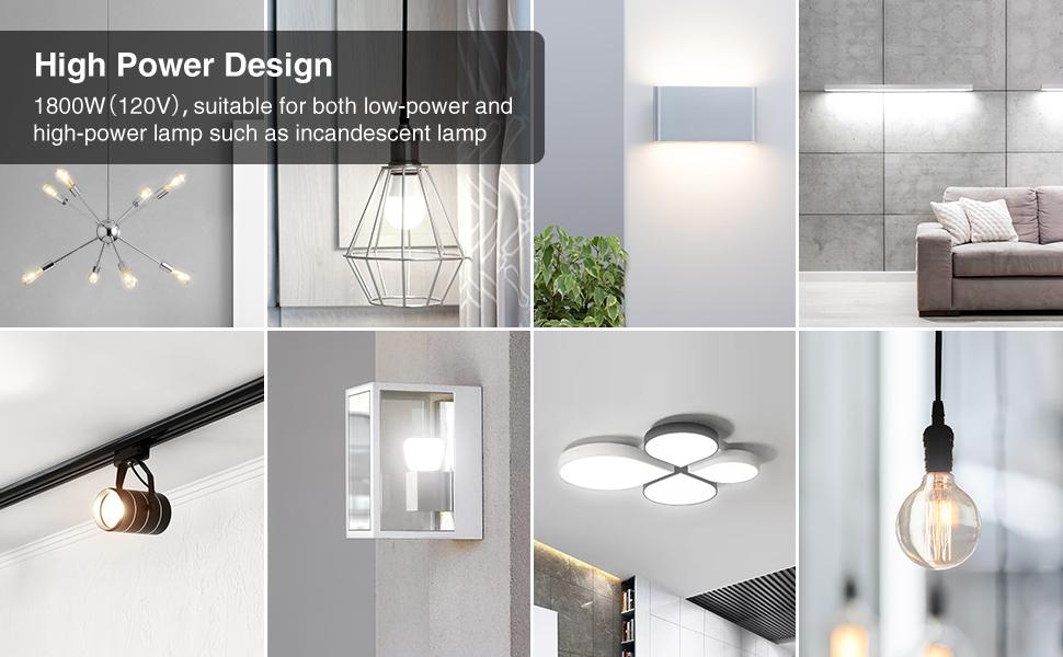 High power design for all kind of light