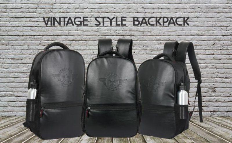 Polestar leather synthetic leather men casual vintage laptop backpack rucksacks schoolbag gifts