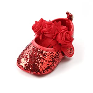Baby Girl Moccasins Princess Sparkly Mary Jane Dresses Shoes