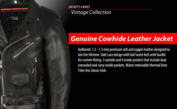 Motorcycle Biker Leather Jacket Classic
