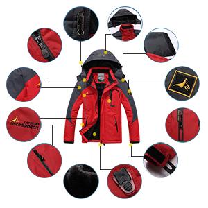 waterproof snowboarding jacket ski rain coat mountain windproof fleece fishing jacket