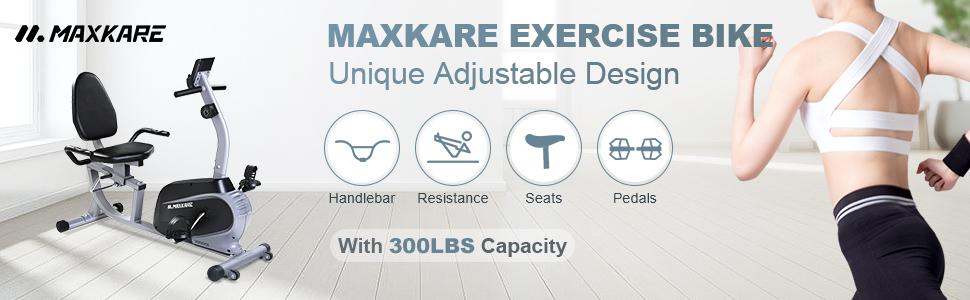 MaxKare Recumbent Exercise Bike