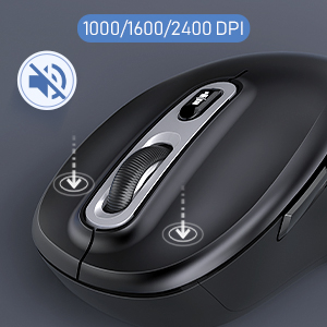 ergonomic type c wireless mouse black and space gray a+ (6)