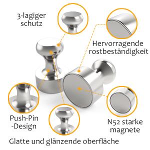 ür Magnettafel, Stecktafel, Kühlschrank, Kegelmagnete, Notenmagnete,vernickelter Stahl Magnete